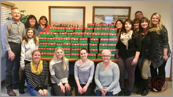 RSS Packs 152 Shoeboxes for Operation Christmas Child!