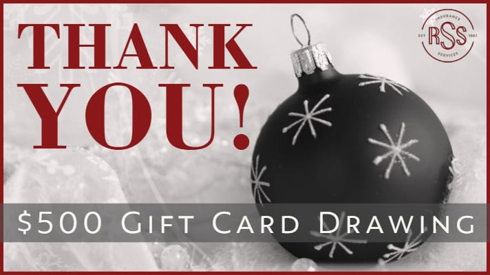 It's Almost Time for our $500 Gift Card Drawing!